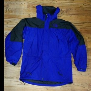 Mens North Face Blue / Purple / Black Jacket Large
